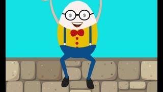 Humpty Dumpty Sat On A Wall | Nursery Rhyme with Lyrics | Kids Tv Nursery Rhymes
