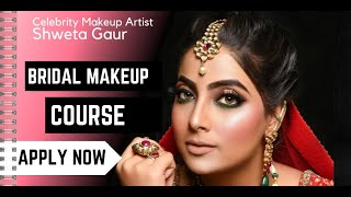 Beautiful Bridal HD Airbrush Look for the season at Shweta Gaur Makeup Artist and Academy