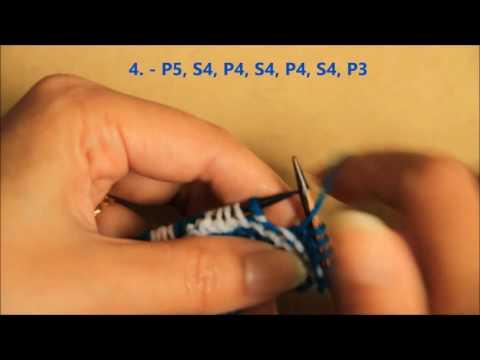 Wave pattern - Knit Stitch