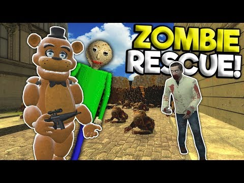 SAVING BALDI FROM THE ZOMBIE APOCALYPSE! - Garrys Mod Gameplay - Gmod Multiplayer Fnaf Survival