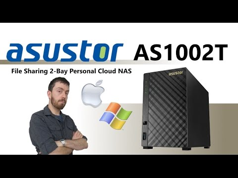 ASUSTOR AS1002T 2-Bay Personal Cloud NAS Unboxing and walkthrough