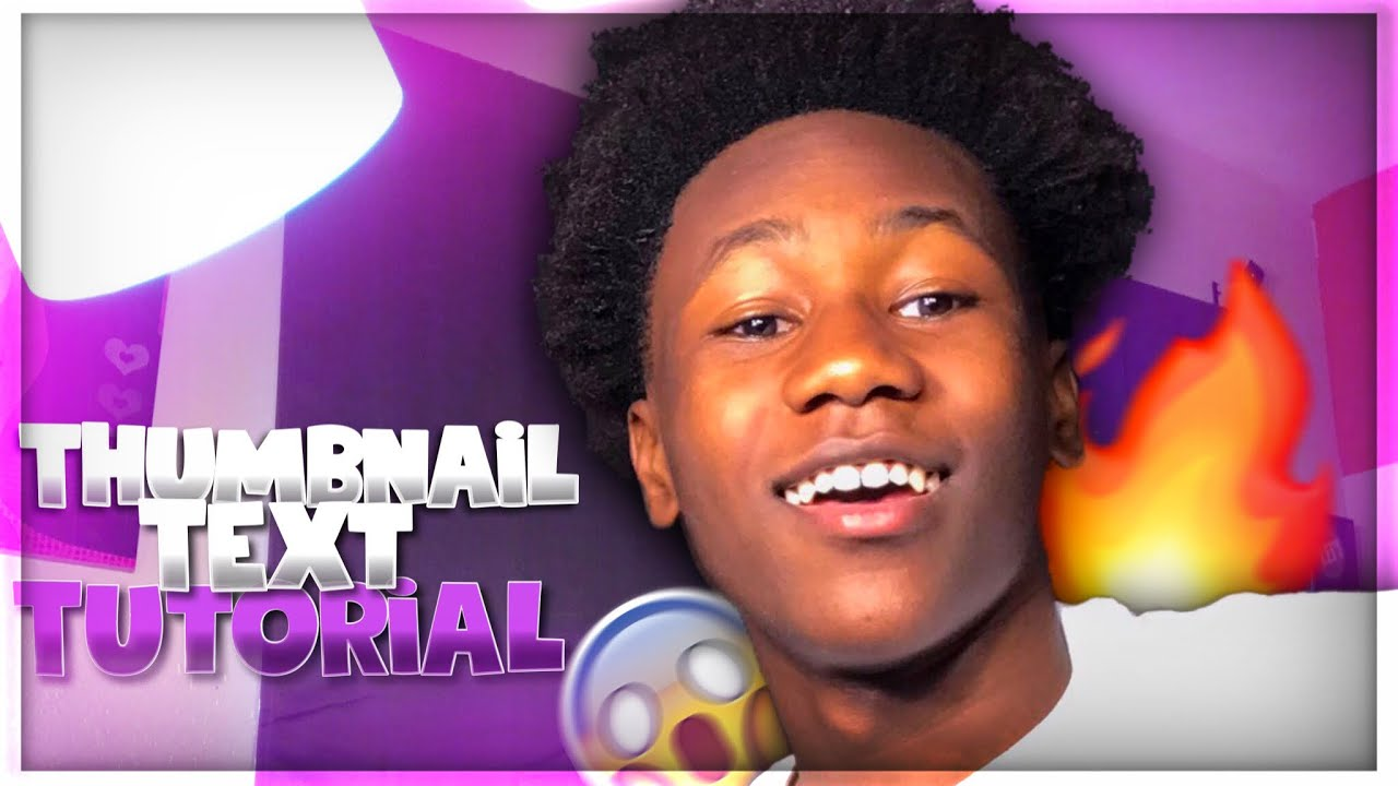 How To Make Text For Thumbnails On IPhone ‼️  Thumbnail ...