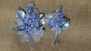How to make corṡage and boutonniere set for prom or wedding