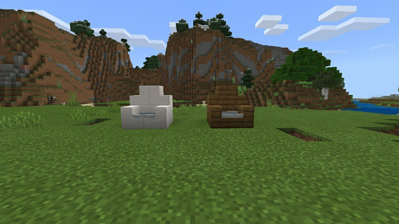 How to build an armchair in minecraft! - YouTube
