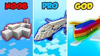 Minecraft NOOB vs. PRO vs. GOD: PLANE BASE CHALLENGE in Minecraft! (Animation)