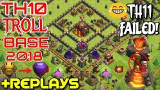Best Townhall 10 (TH10) Trophy base & Farming base with Replay proof
