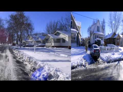 SNOW  IN DES MOINES, IOWA 2016