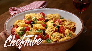 How To Make Tortellini Salad Italian Style - Recipe In Description