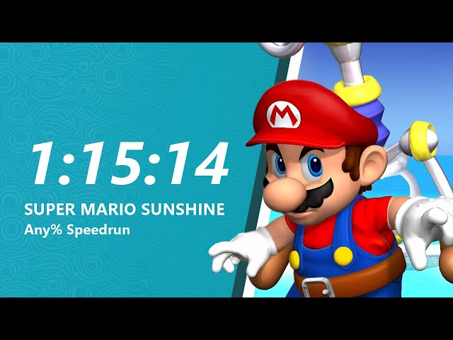 Super Mario Sunshine Any% Speedrun in 1:15:14