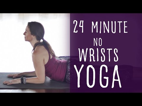 24 Minute Vinyasa Yoga No Wrist Pressure Required with Fightmaster Yoga