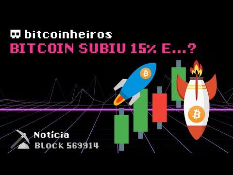 Bitcoin subiu 15%... E agora? - LIVE BITCOINHEIROS