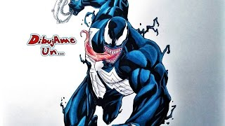 Como dibujar a VENOM. How to draw VENOM from the amazing SPIDERMAN. Dibujame un