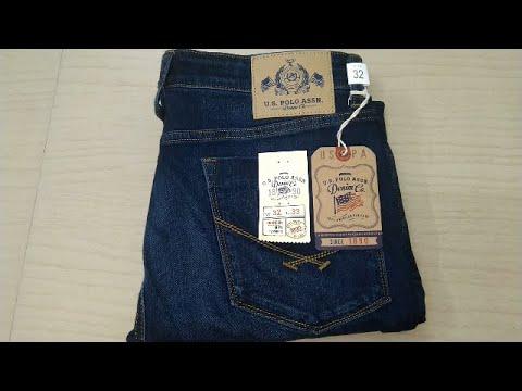 U.S.Polo Association  Men Dark Blue Jeans (32'')