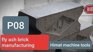 Model P08 Fly-Ash Bricks Machine - Himat Machine Tools