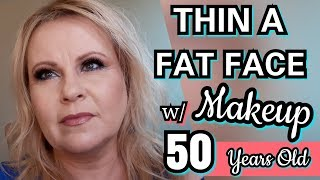 CONTOUR A FAT FACE & LOOK YOUNGER w/ MAKEUP ~ EASY TUTORIAL