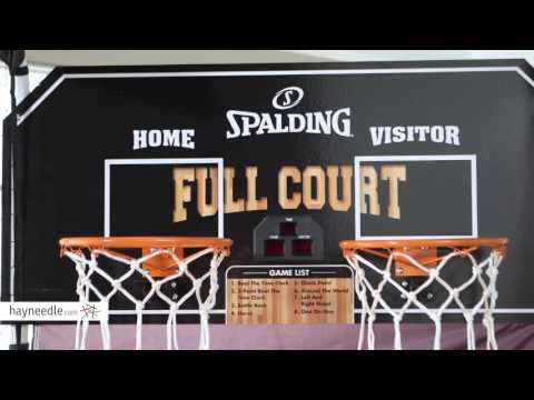 spalding-full-court-deluxe-2-player-basketball-game---product-review-video
