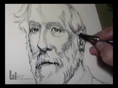 drawing a portrait of general robert e lee youtube. Black Bedroom Furniture Sets. Home Design Ideas