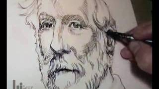Drawing a Portrait of General Robert E. Lee