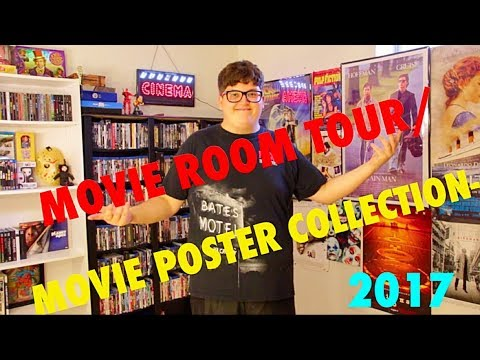 MOVIE ROOM TOUR/MOVIE POSTER COLLECTION- 2017