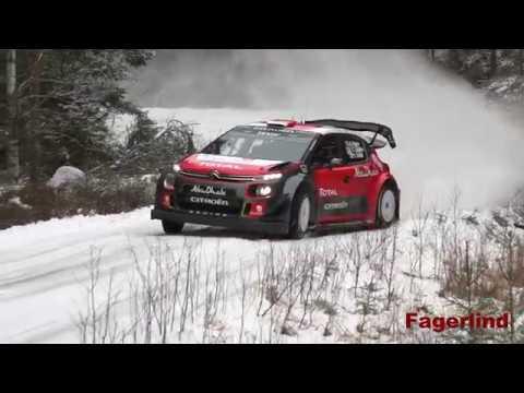 Craig Breen test for Rally Sweden 2017 in Citroen C3