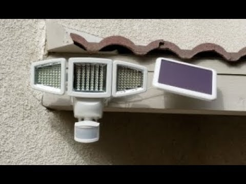 Actual Review Install Issues Sunforce Solar Motion Detect 180 Led 3 Head Light 8 22 18 Youtube