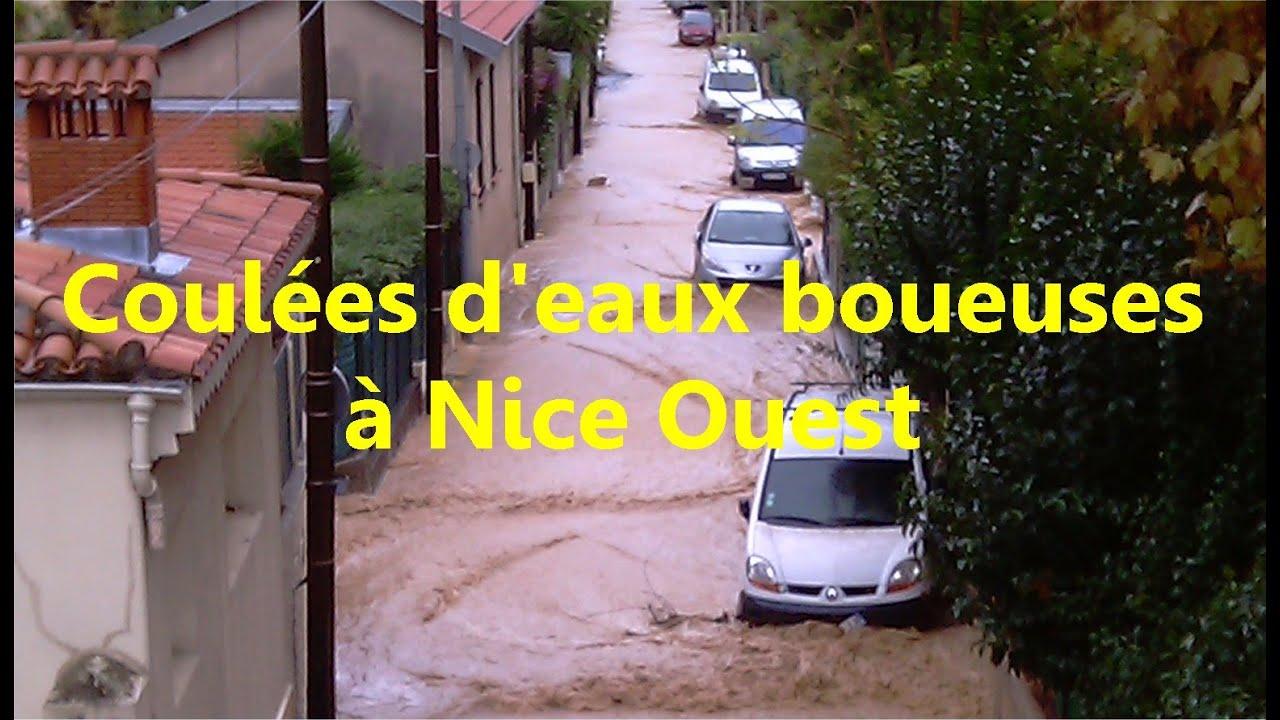 2014-11-11: Coulée d'eaux boueusent à Nice Ouest
