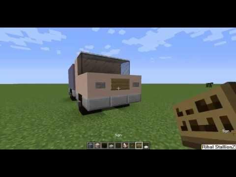 Minecraft Cara Membuat Mobil Truk.