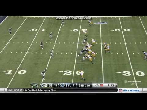 Packers VS Rams (Rookie Michael Sam First Sack of 2014!)