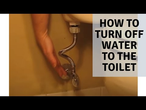 DIY -How to Turn off toilet water supply - YouTube