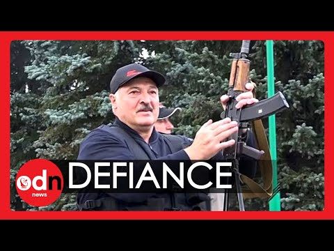 Belarus Protests: Lukashenko Carries Rifle As Massive Crowd Demands His Resignation