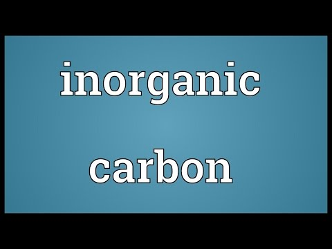 Inorganic carbon Meaning