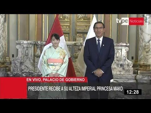 Presidente Martín Vizcarra se reunió con princesa Mako