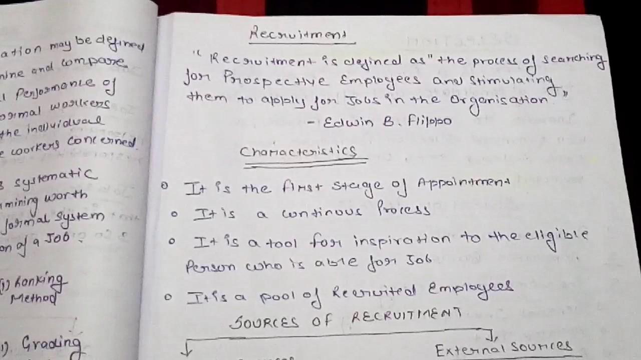 evaluation of recruitment process