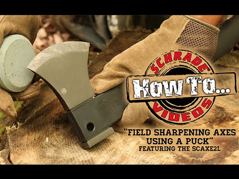 How to Field Sharpen an Axe or Hatchet with a Puck Sharpening Stone