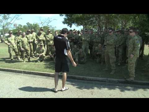 Jack Daniel's Racing 2011 SKYCITY Triple Crown Preview - Rick Kelly visits Army troops in Darwin