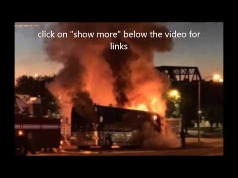 Tour bus catches on fire of bands Hundredth and Being as an Ocean on Warped Tour..