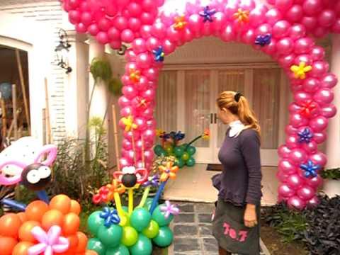 arco de minnie con globos realizada por la profesora graciela sanabria de eventos