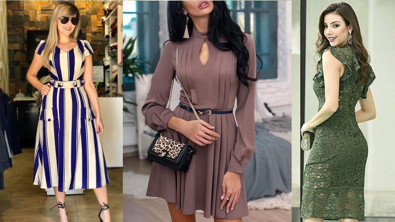 Los Más Hermosos Vestidos Elegantes Y Casuales De Moda Y Tendencia 20192020