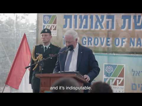 Canadian Governor General Plants a Tree in Jerusalem's Grove of Nations