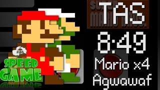 Speed Game[60FPS]: TAS 4 Mario avec une manette !