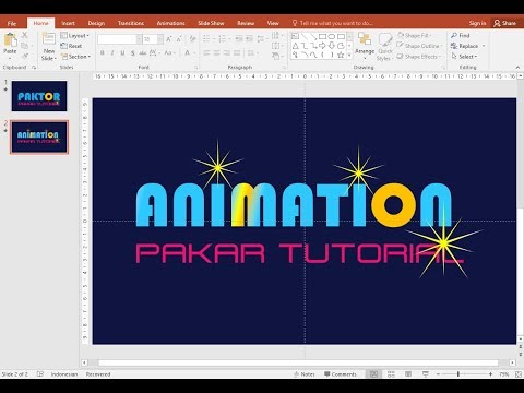 Cara Mudah Membuat Animasi Teks (Text Masking) dengan PowerPoint