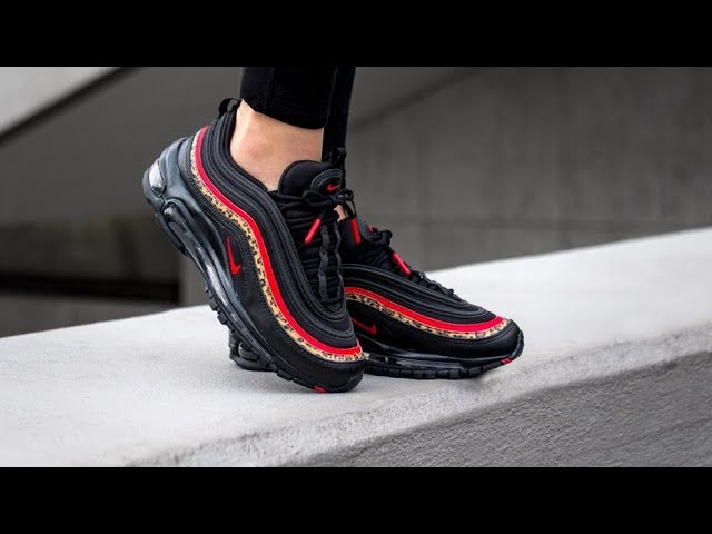 Nike Airmax 97 in University Red/Black print Unboxing!!!!TRY ON ...
