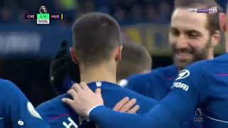 Chelsea Vs Huddersfield Town 5-0 Premier League 2/2/2019 (Higuain's Goal)