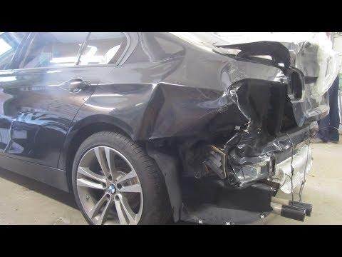 BMW 3. The body car repair. Ремонт кузова машины.