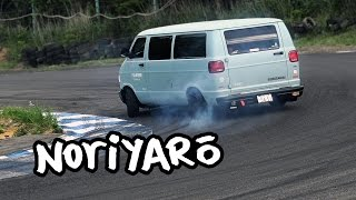 homepage tile video photo for Japanese Dodge vans at a DAJIBAN meeting at Ebisu Circuit