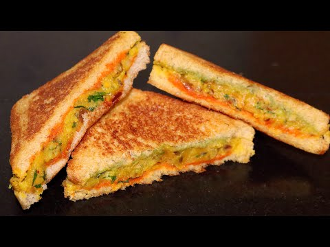 तवे पर ऐसी हैल्दी सैंडविच बनायेंगे तो बाकी सब सैंडविच खाना भुल ही जायेंगे   Masala Sandwich Toast