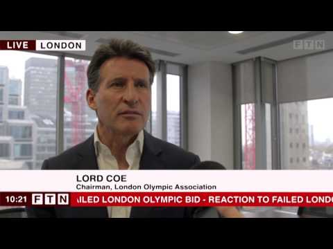 London 2012 failed Olympic Bid: Seb Coe Interview #JustImagine