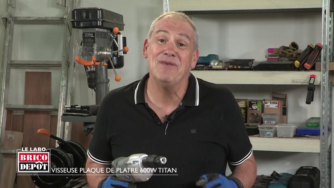 Labo Brico Test Visseuse Plaque De Platre Titan 600 W Youtube