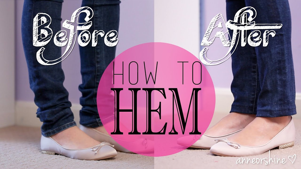how to hem pants without sewing them