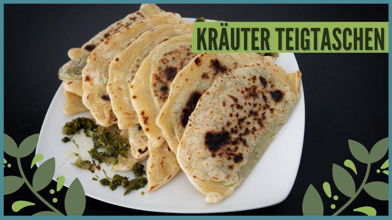 Kräuter Teigtaschen - Ohne Fleisch | Gesunde Tschebureki Alternative